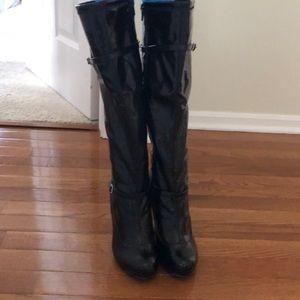 Diba Shoes - diba patent leather platform stiletto boots, 6.5M